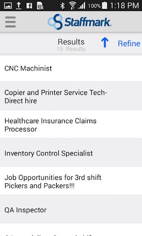 Staffmark Job Search App Screenshot
