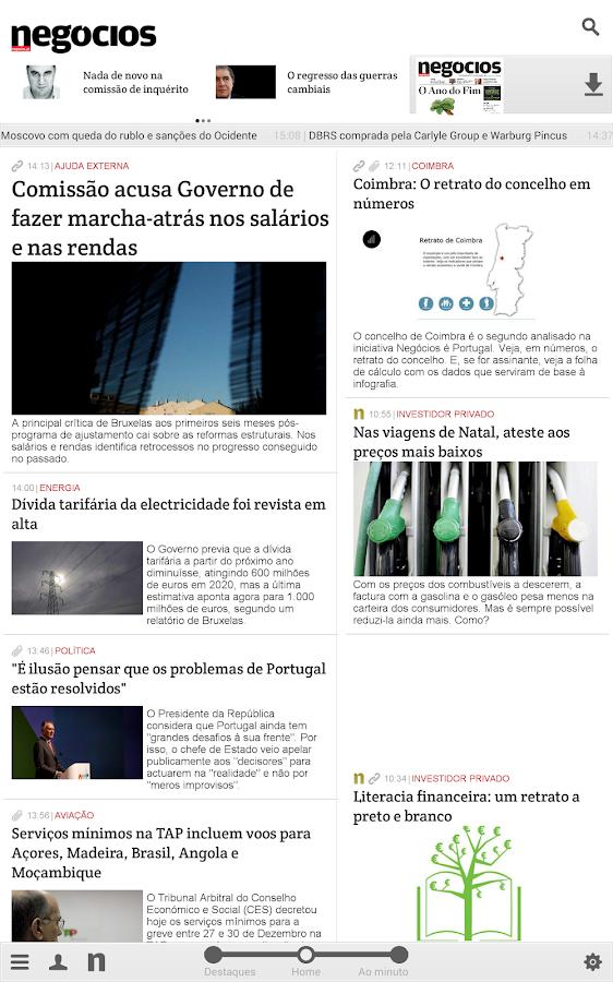 Negócios- screenshot