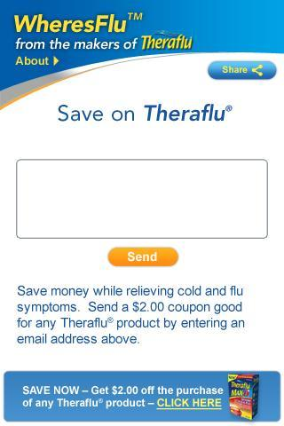 Theraflu® WheresFlu™ Mobile - screenshot