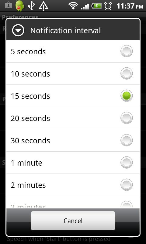 Talking Stopwatch - screenshot