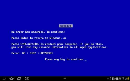 Blue Screen of Death - screenshot thumbnail