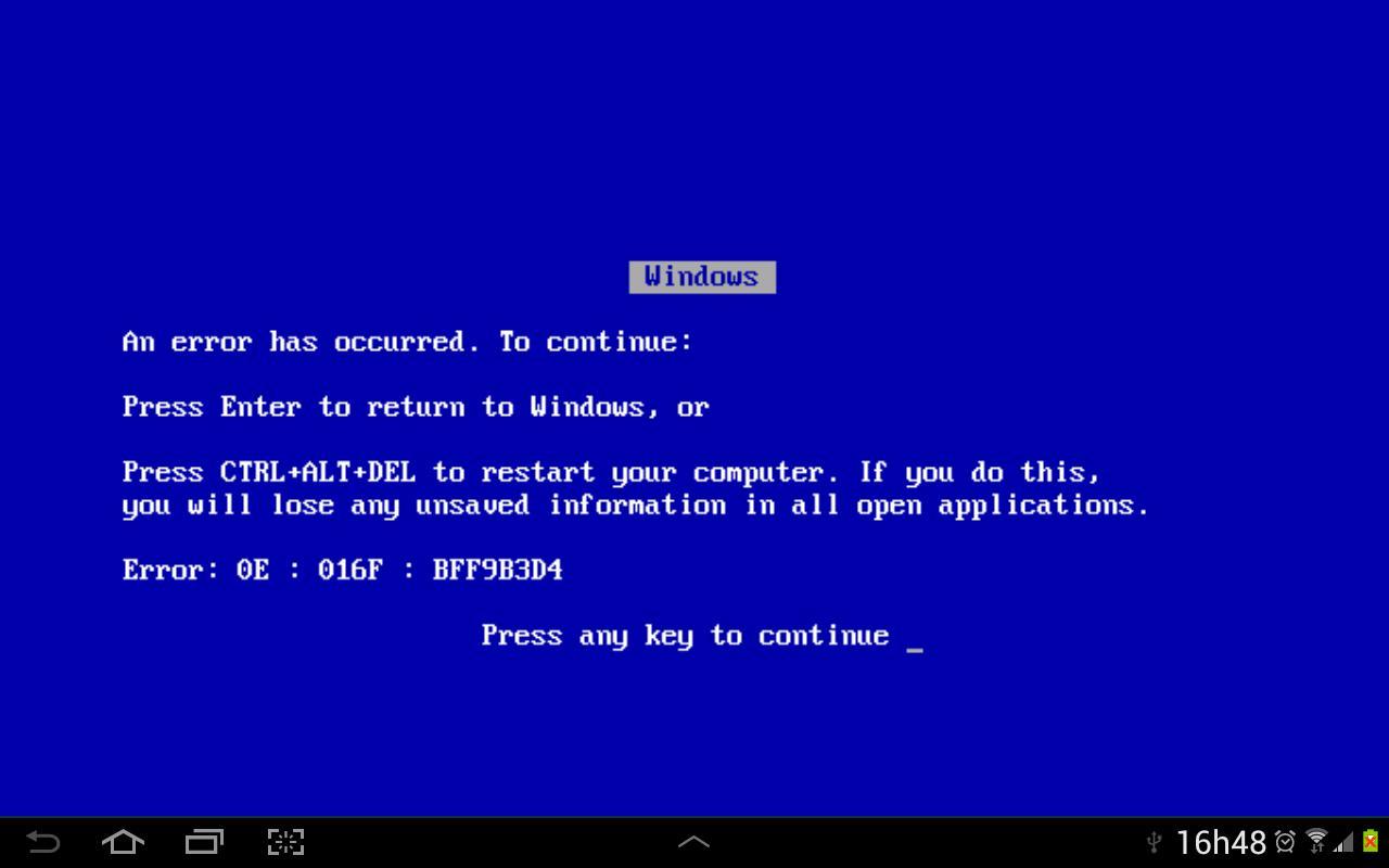 Blue Screen of Death - screenshot