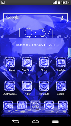 Next Launcher Theme CrystalB