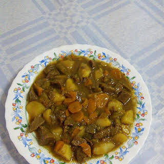 Meat Stew with Potatoes and Carrots.