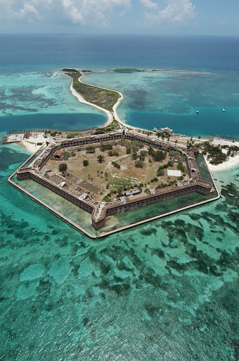 Florida-Keys-Fort-Jefferson - Fort Jefferson in the Dry Tortugas National Park in the Florida Keys.