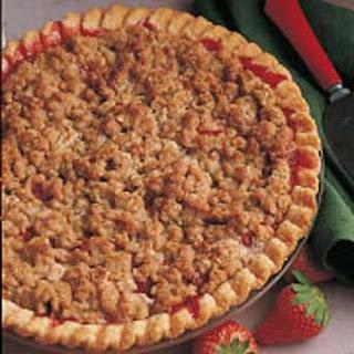 Strawberry/Rhubarb Crumb Pie.