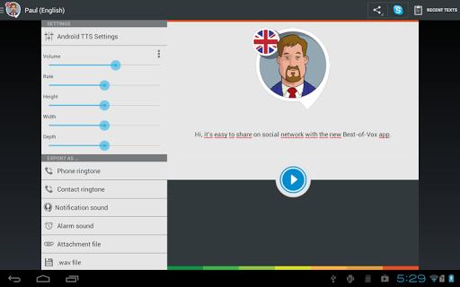 Paul TTS voice (English) screenshot