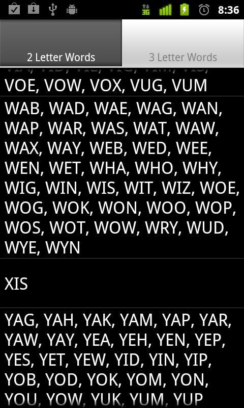 Scrabble Short Words- screenshot