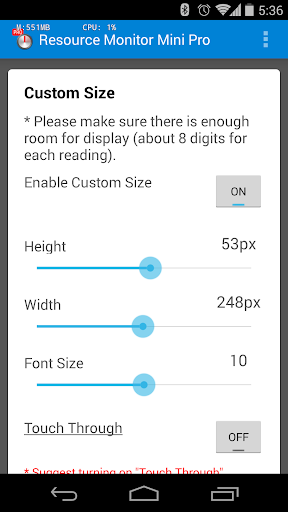 Resource Monitor Mini Pro  screenshots 7