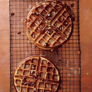 Maple-Brown-Butter Dessert Waffles.