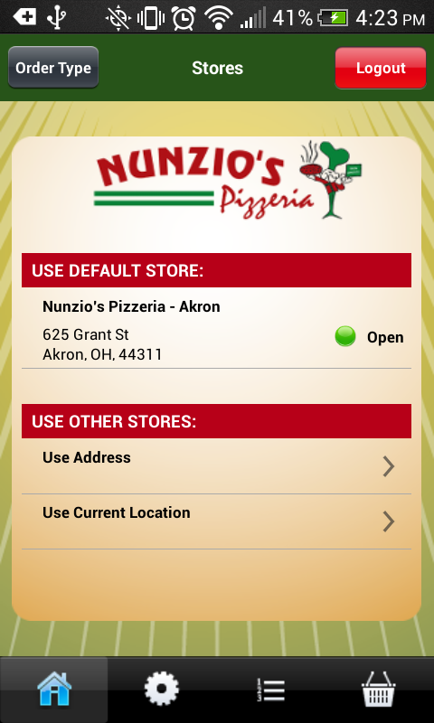 Nunzio's Pizza- screenshot
