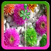 Flowers Stones Zipper Lock