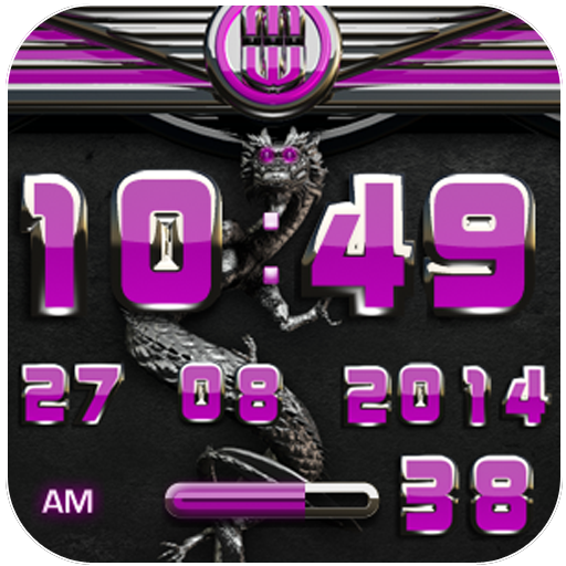 dragon digital clock pink