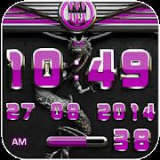 dragon digital clock pink icon