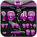 dragon digital clock pink icon