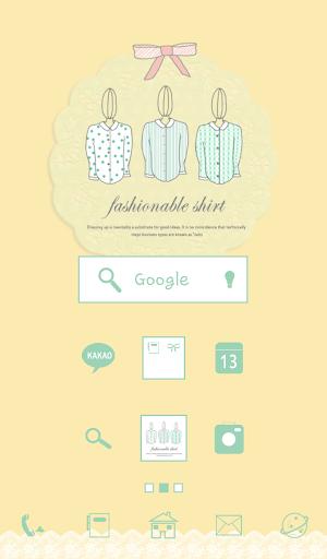 fashionable shirt 도돌런처 테마