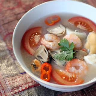 Thai Seafood Soup (Tom Yum Talay).