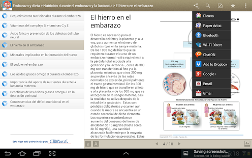 Miniatlas Embarazo y dieta - screenshot thumbnail