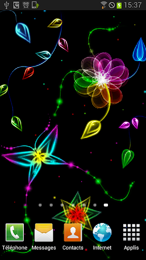 Neon Butterfly Parallax 3D LWP