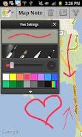 Screenshot of Map Note