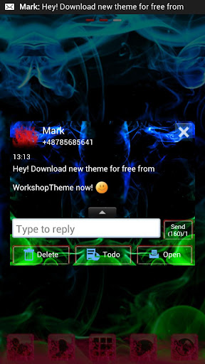 【免費個人化App】GO SMS Pro Green Smoke Buy-APP點子