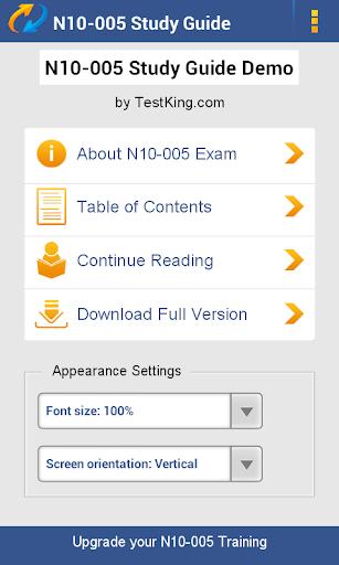 N10-005 Study Guide Demo