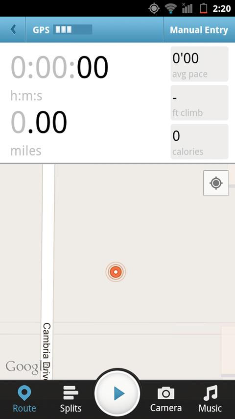 Athlete.com Running GPS - screenshot