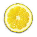 Fruit Clock Lemon Widget icon