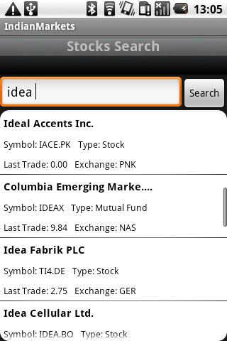IndianMarkets - screenshot
