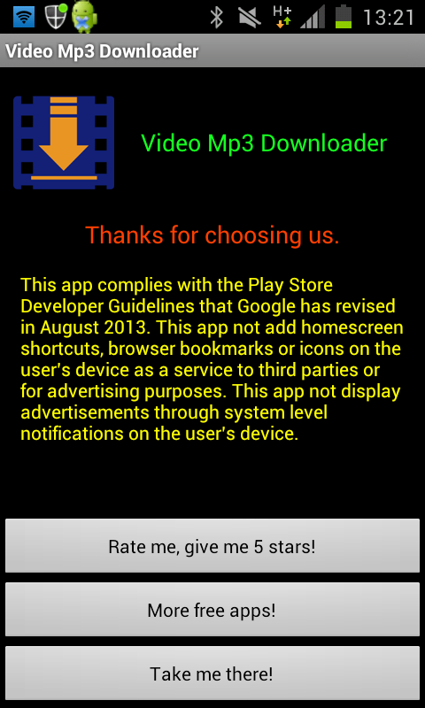 Video Mp3 Downloader - screenshot