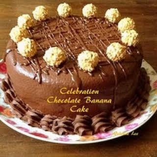 Celebration Chocolate Banana Cake.