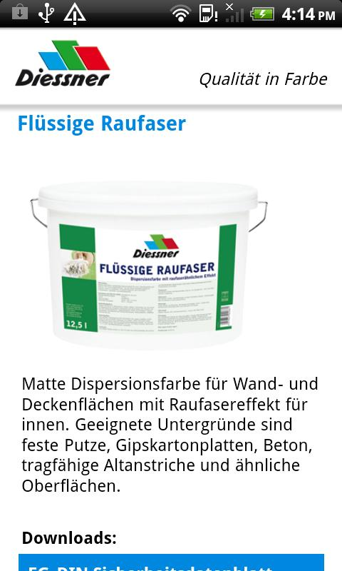 Diessner Produktkatalog- screenshot