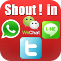 Shout! in chat icon