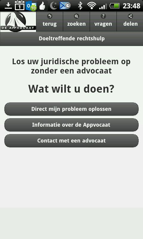 Legal aid - the Appvocaat- screenshot