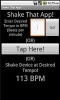 Screenshot of Shake That App!