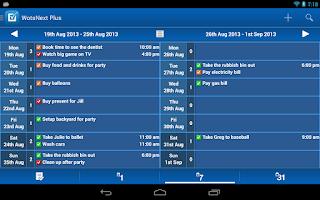 Screenshot of WotsNext - To-do / Task List