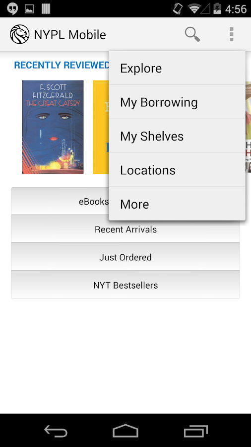 NYPL Mobile- screenshot