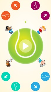 Circular Tennis 2 Player Games- screenshot thumbnail