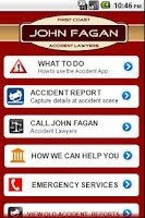 Screenshot of Accident App John Fagan Law
