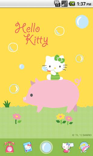 Hello Kitty Bubble Theme