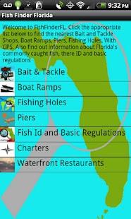 Fishfinderflorida free android app market for Florida fishing app