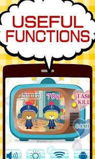 BATTERY WIDGET TINY TWIN BEARS - náhled
