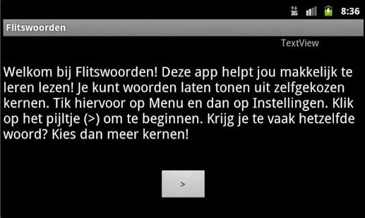 Flitswoorden - Leren Lezen - screenshot thumbnail