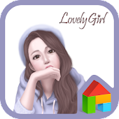lovely girl look dodol theme