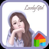lovely girl look dodol theme