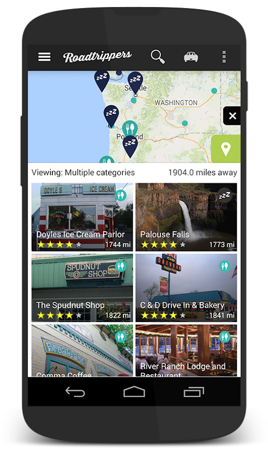 Roadtrippers - Trip Planner - screenshot