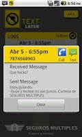 Screenshot of Text U Later