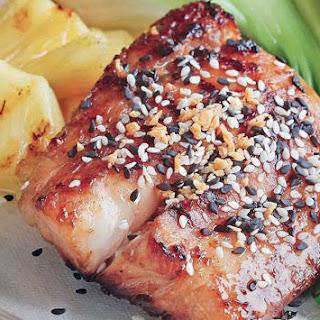 Grilled Sesame-flavored Fish Fillet.