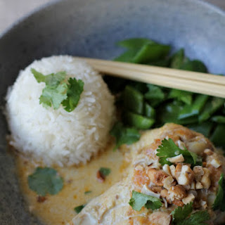 Chicken Curry with Coconut Milk and Cashews.