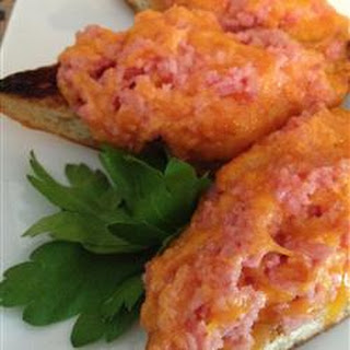 Broiled SPAM® and Cheese Open Face Sandwiches
